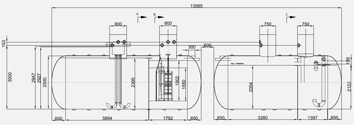 underground well pressure tank diagram within diagram