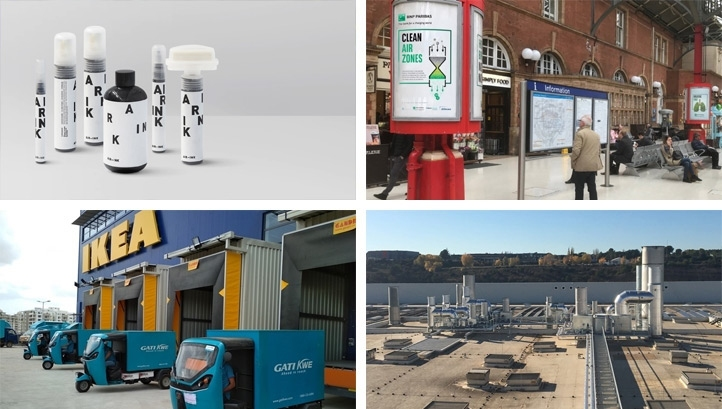 Pollutant-trapping pavements and electric rickshaws: the best green innovations to tackle air quality